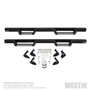 Westin-HDX Stainless 15-18 Ford F-150 SC-17-18 F-250-F-350 CC Drop Nerf Step Bars - Textured Black