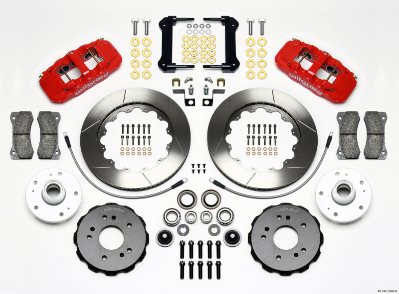Wilwood AERO6 Front Truck Kit 14.25in Red 97-03 Ford F150