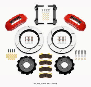 Wilwood TX6R Front Kit 15.50in Red 2010-Up Ford F150 (6 lug)