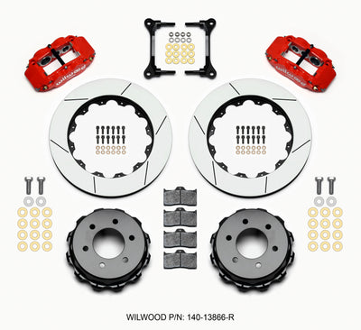 Wilwood Narrow Superlite 4R RearTruck Kit 14.25in Red 2012-Up Ford F150 (6 lug)