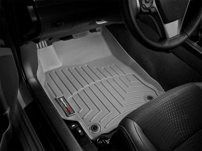 WeatherTech 2015+ Ford F-150 (Fits SuperCrew and SuperCab Dual Floor Posts) Front FloorLiner - Grey