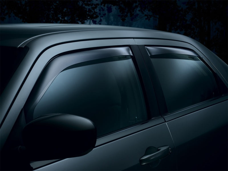 WeatherTech 04-08 Ford F150 Super Cab Front and Rear Side Window Deflectors - Dark Smoke