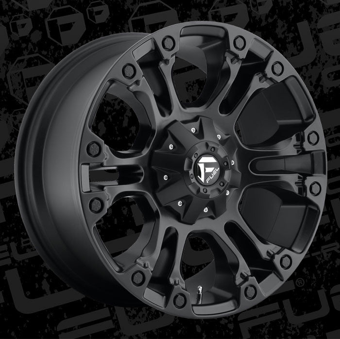 Fuel | D56020909857 | 20x9 +20 Offset Vapor Wheels Black