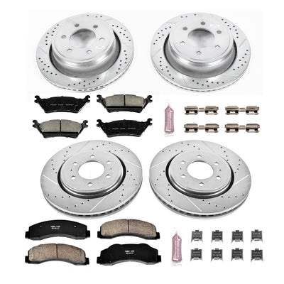 Power Stop | K6268 | Z23 Evolution Sport Full Brake Kit For 2015-2016 Ford F150 (Manual Parking Brake Only)