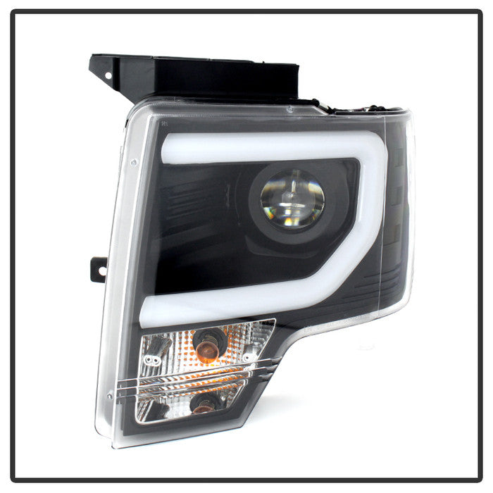 Spyder | 5077646 | Projector Headlights With Light Bar DRL Fits 2009-2014 Ford F150 With Halogen Head Lights (Will Not Halogen Models)