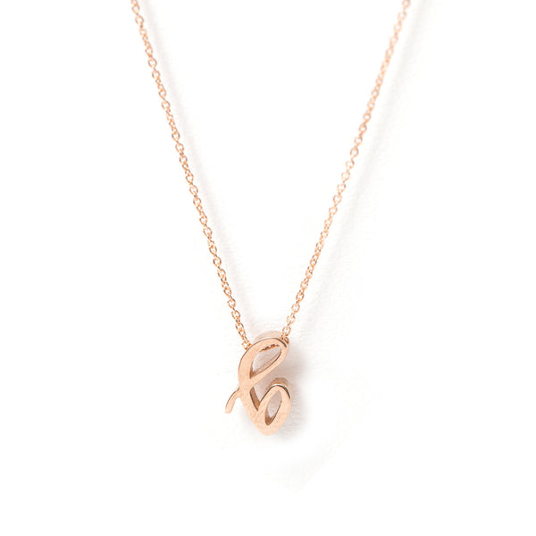 Mini Love Letter Necklace (Rose Gold)