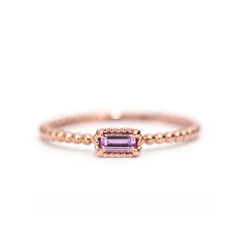 Pink Sapphire Baguette Bloom Ring