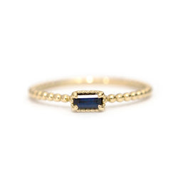 Sapphire baguette Bloom ring