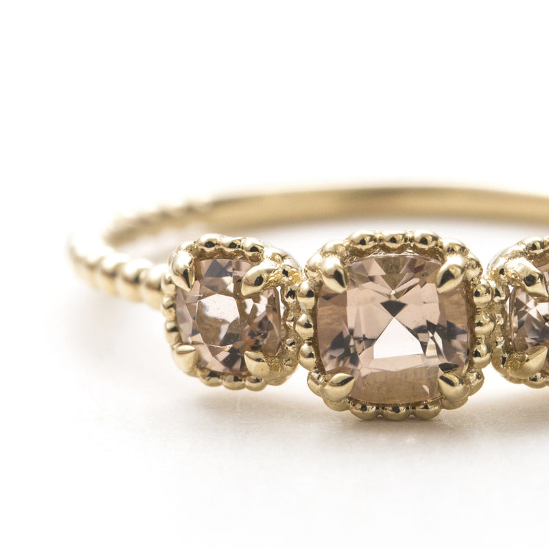 Champagne Tourmaline Bloom Ring