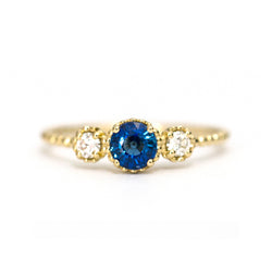 Sapphire and diamond Bloom ring