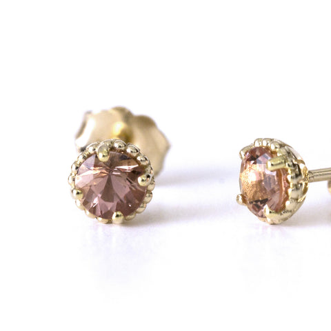 Imperial topaz Bloom earrings