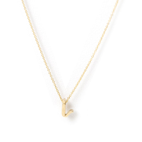 Mini Love Letter necklace (Yellow Gold)