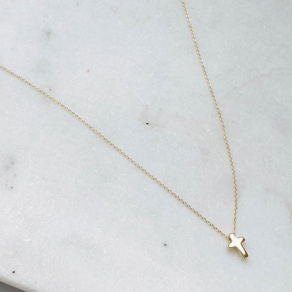 Mini Love Letter Cross Necklace