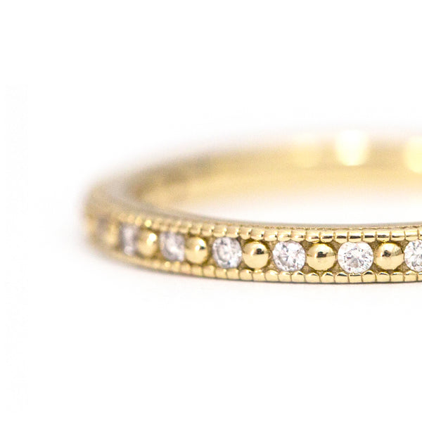 Vintage White Diamond Band