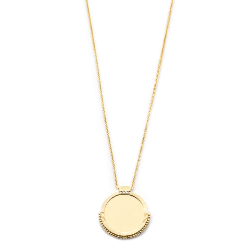 Mirror Disc Diamond Necklace
