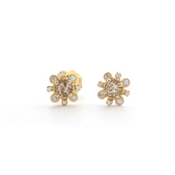 Champagne Tourmaline and Diamond Earrings