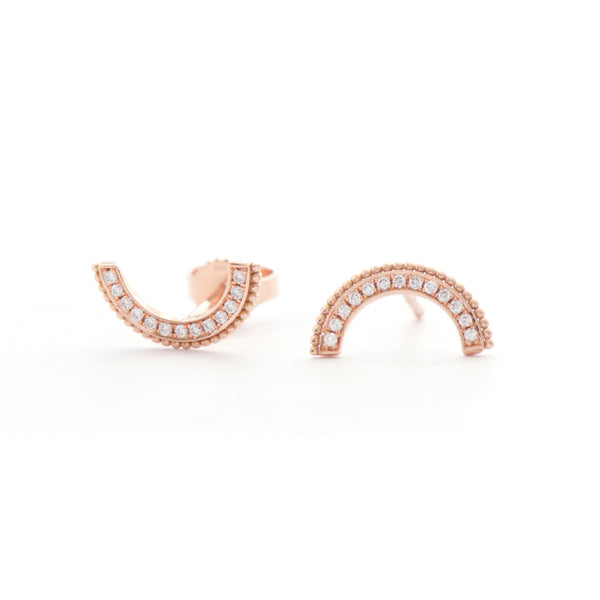 Diamond Arch Earrings
