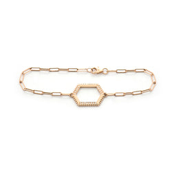 Hexagon Diamond Beaded Bracelet