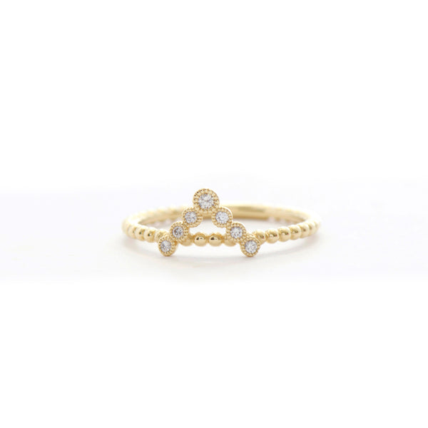 7 Stone Diamond Bezel V Band