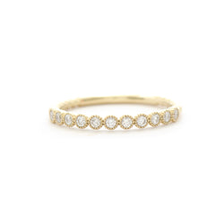 11 Stone Diamond Bezel Band