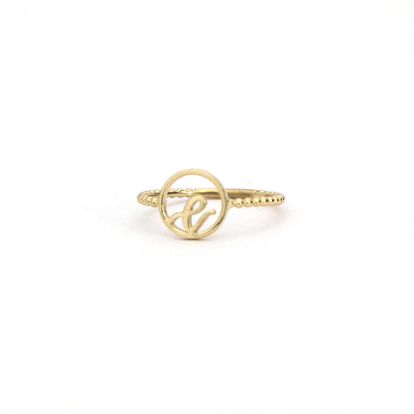 Love Letter Disc Ring