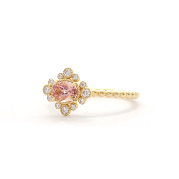 Oval Imperial Topaz Diamond Bezel Ring