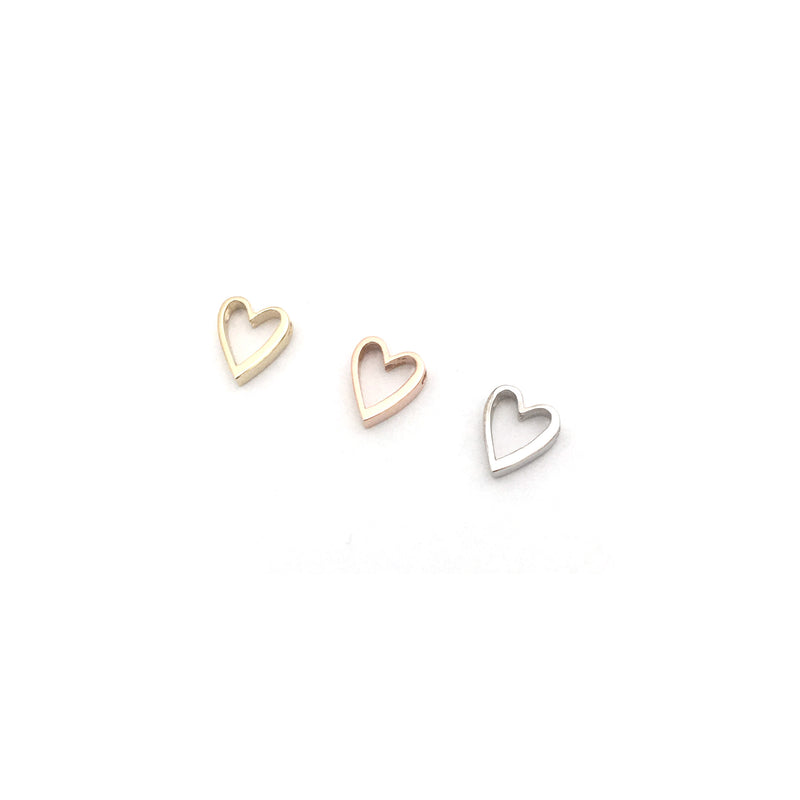 Mini Love Letter Necklace (White Gold)