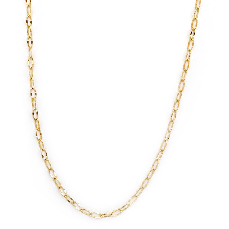 Textured Elongated Link Chain