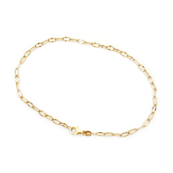 Textured Elongated Link Chain Ankle Bracelet