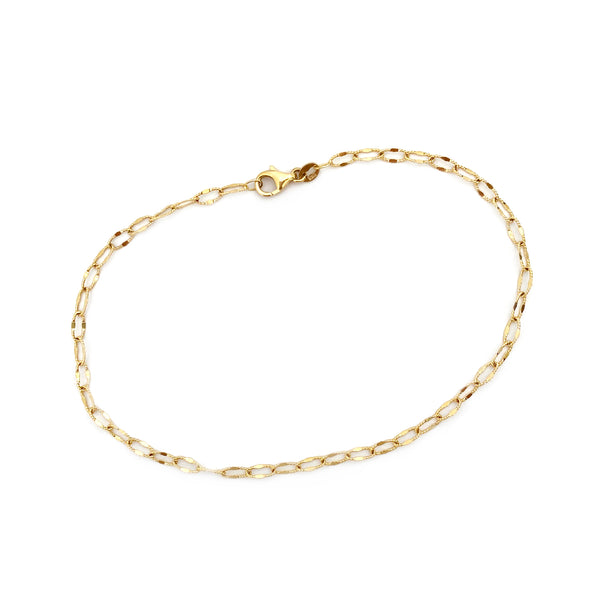 Textured Elongated Link Bracelet