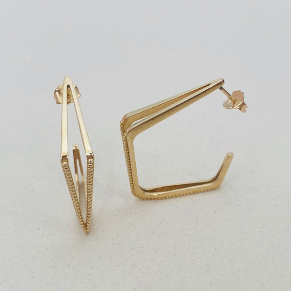 Angular Hoop Earrings