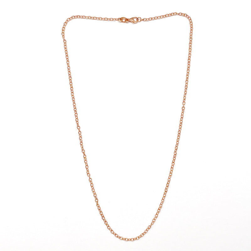 Textured oval chain necklace