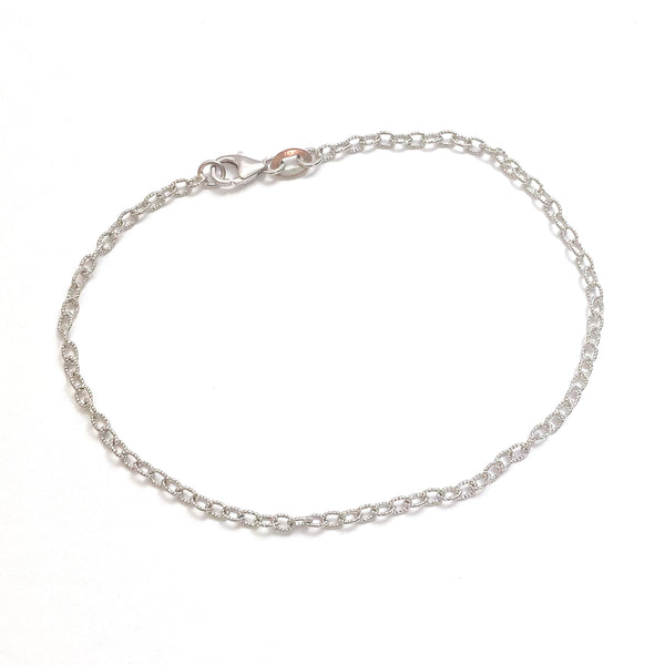 Textured Oval Chain Bracelet (Small)