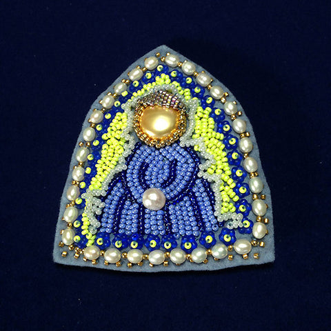Madonna of the 31 Pearls - Meditation Prayer Doll