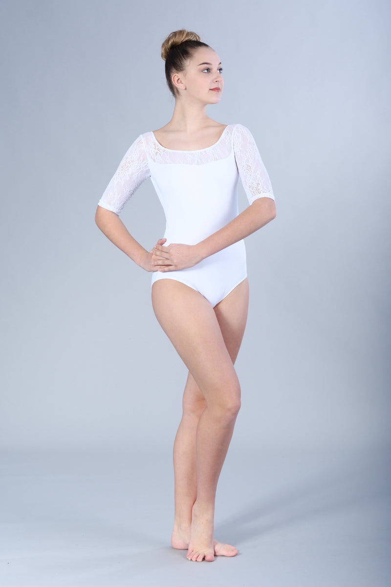 Celeste with Kara Lace Leotard