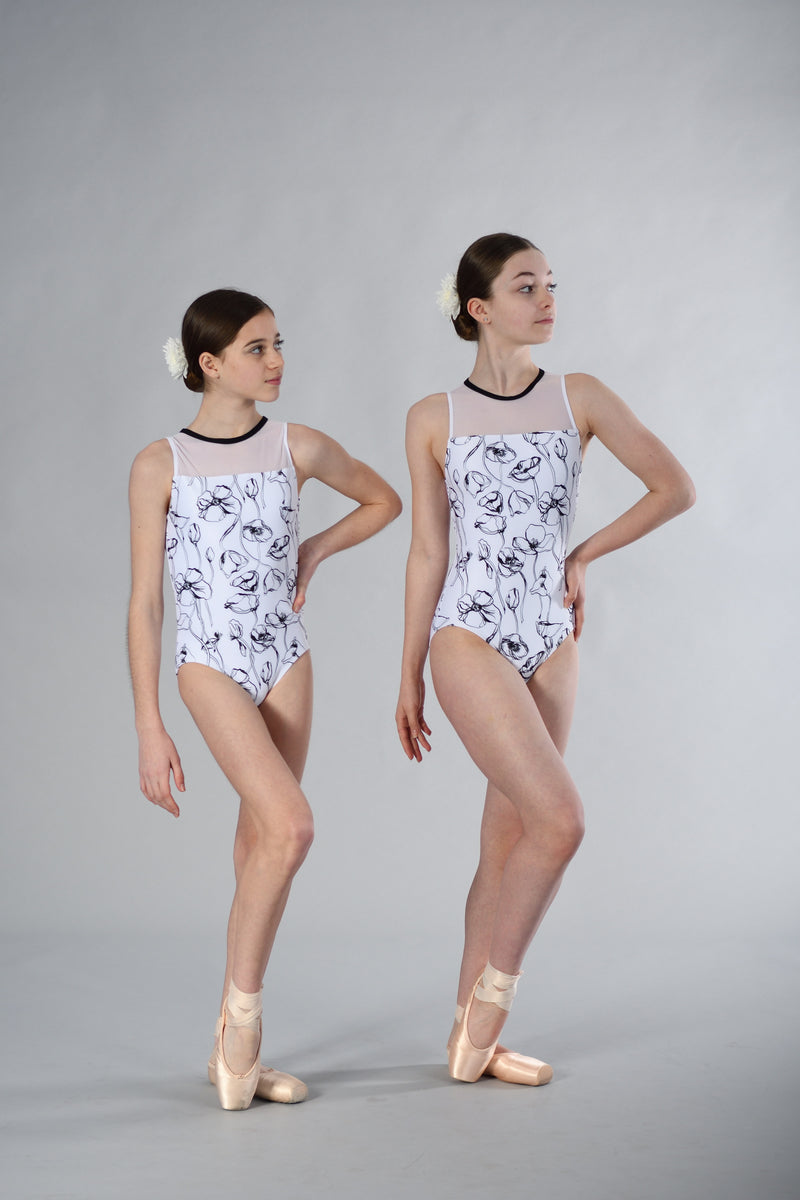 Nora Leotard in Poppy Print
