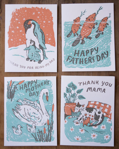 Animal Parents card set