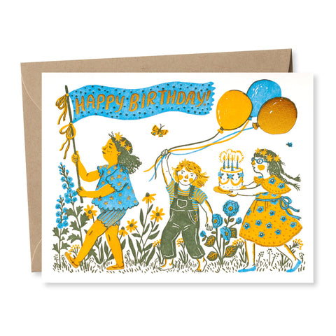 """Birthday Parade"" card"