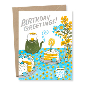 """Birthday Tea Party"" card"