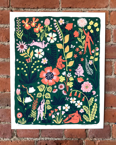 """Bloom"" screenprint"