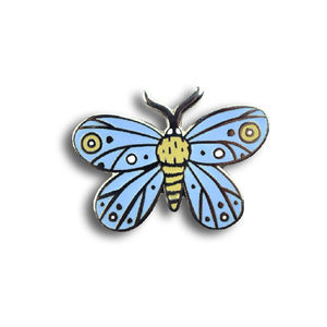 BLUE MOTH enamel pin