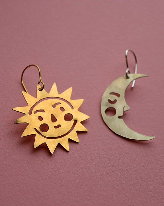Sun And Moon earrings *COMING SOON*