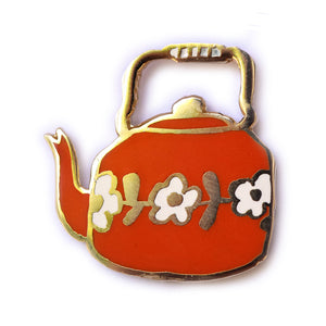 Kettle enamel pin