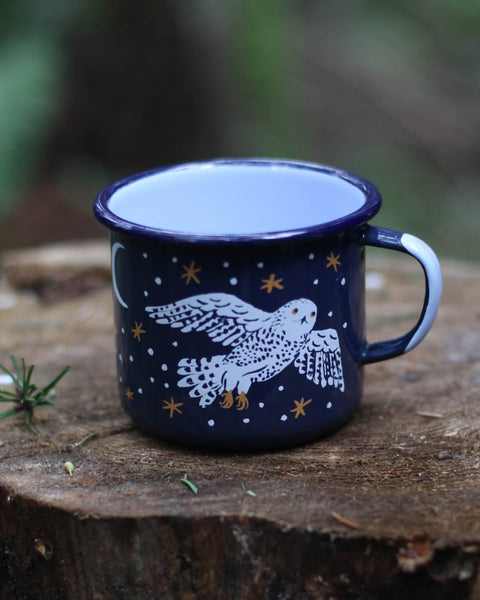 NIGHT OWLS enamel mug