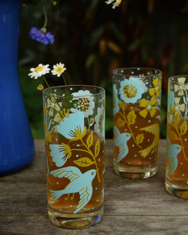 Phoebe Bird Highball Glass Set