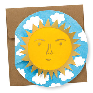 """Sun Die-Cut"" card"