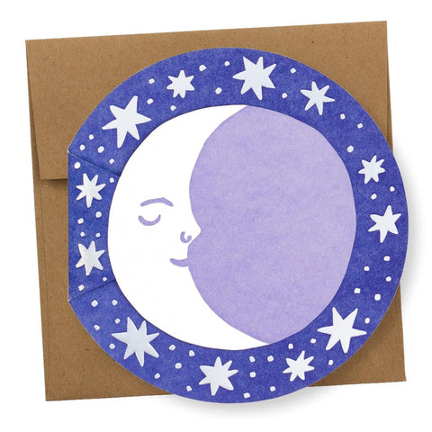 """Moon"" Die-Cut card"