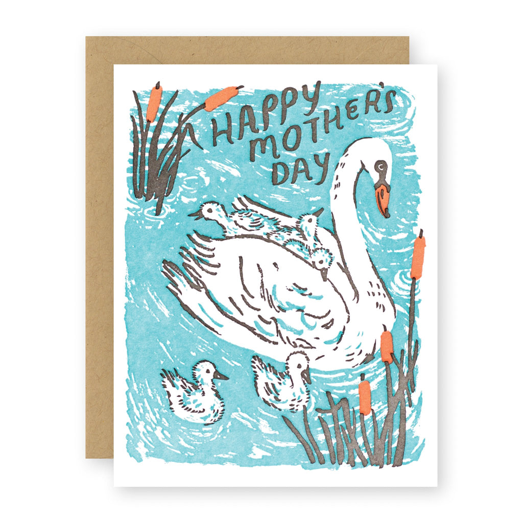 SWAN MOTHER card