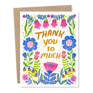 """Thank You Wildflowers"" card"