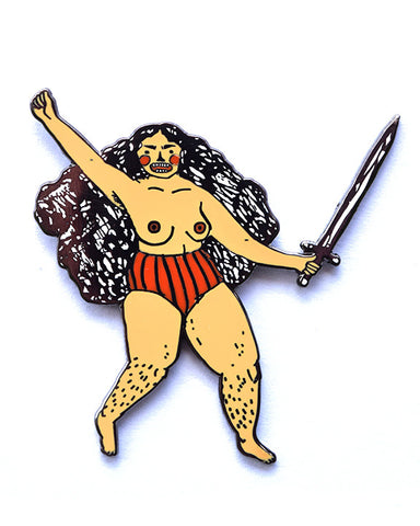 Warrior Woman enamel pin